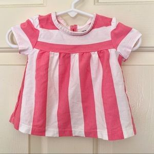 Carter's Pink and White Striped Baby Girl Top